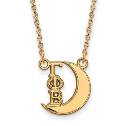 Picture of Gamma Phi Beta Sorority Sterling Silver Gold Plated Pendant Necklace