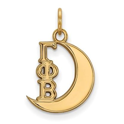 Picture of Gamma Phi Beta Sorority Sterling Silver Gold Plated Pendant