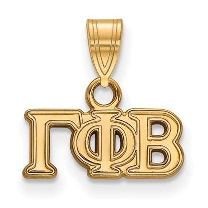 Picture of Gamma Phi Beta Sorority Sterling Silver Gold Plated Small Pendant