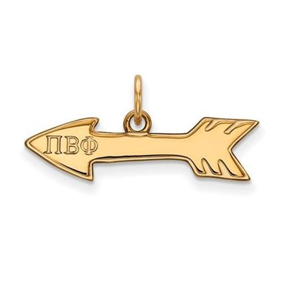 Picture of Pi Beta Phi Sorority Sterling Silver Gold Plated Pendant