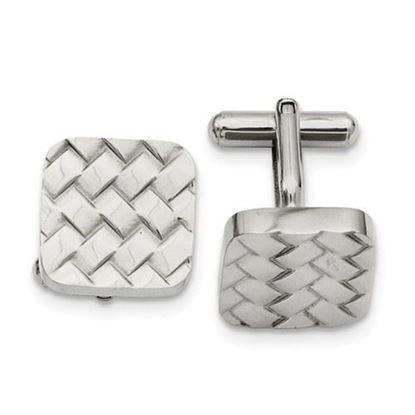 Picture of Stainless Steel Weave Design Cufflinks