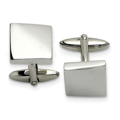 Picture of Stainless Steel Polished Waved Cufflinks