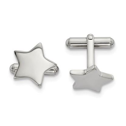 Picture of Stainless Steel Polished Star Cufflinks