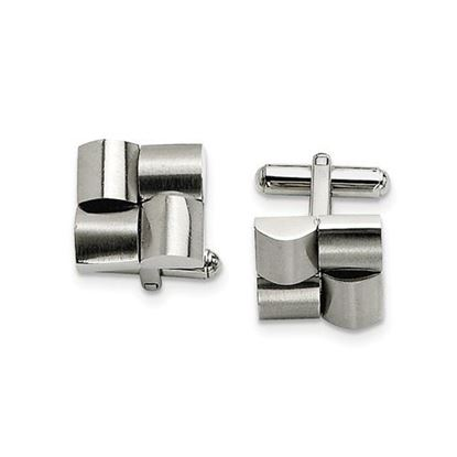 Picture of Stainless Steel Brushed Cufflinks