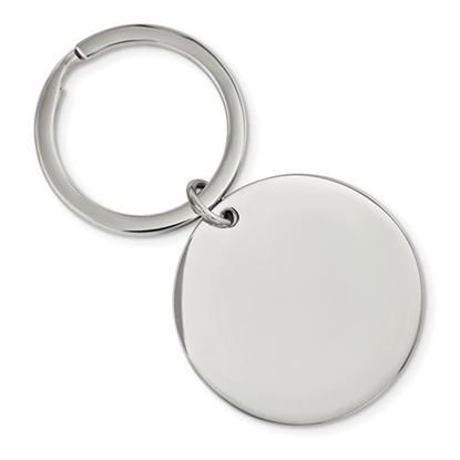 Picture of Stainless Steel Brushed Polished 1.85mm Reversible Circle Key Chain