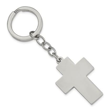 Picture of Stainless Steel Polished Cross Key Ring