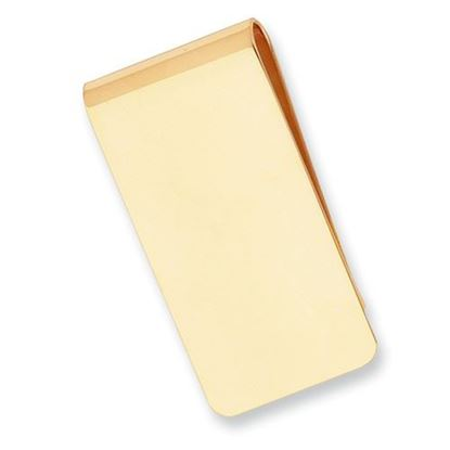 Picture of Gold-plated Brushed Polished  Rectangle Money Clip