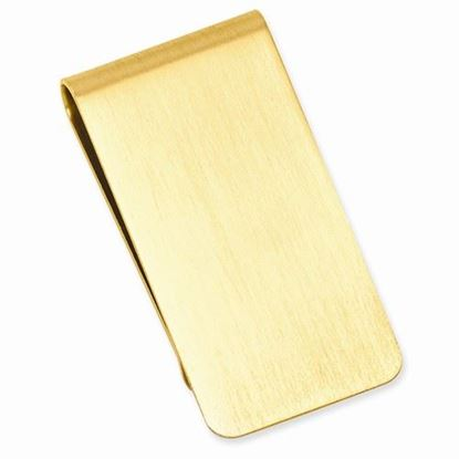 Picture of Gold-plated Brushed Polished Satin Rectangle Money Clip