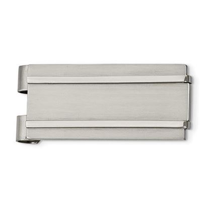 Picture of Stainless Steel Brushed Polished Money Clip