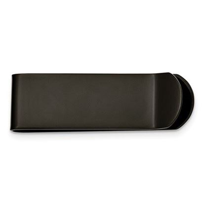 Picture of Stainless Steel Brushed Black IP-plated Money Clip