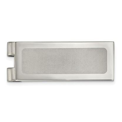 Picture of Stainless Steel Polished Laser Cut Center Money Clip