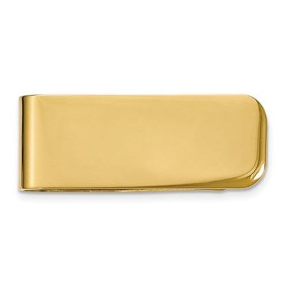 Picture of Stainless Steel Polished Yellow IP-plated Money Clip