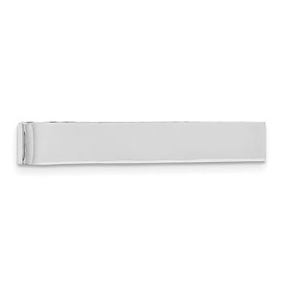 Picture of Sterling Silver Rhodium-plated Polished Classic Tie Bar
