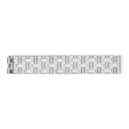 Picture of Sterling Silver Rhodium-plated Weave Design 8mm Tie Bar