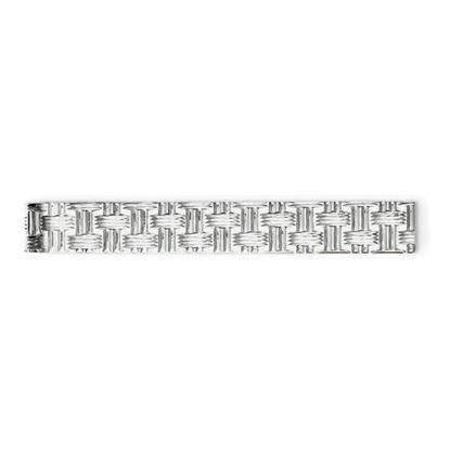 Picture of Sterling Silver Rhodium-plated Weave Design Tie Bar