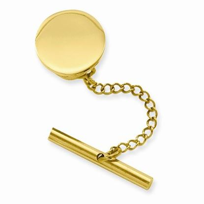 Picture of Gold-plated Round Polished Tie Tac