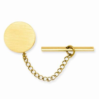 Picture of Gold-plated Round Satin Tie Tac