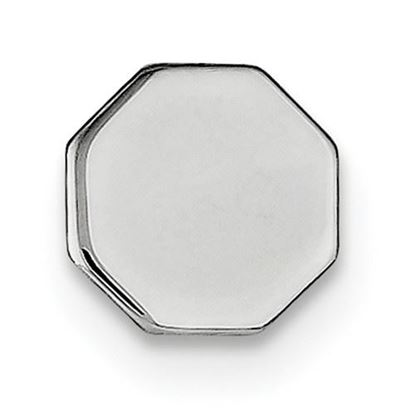 Picture of Sterling Silver Polished Octagon Tie Tac