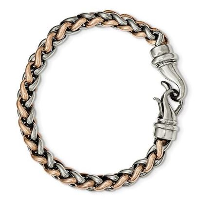 Picture of Stainless Steel Polished Rose IP-Plated 8.5 Inch Bracelet