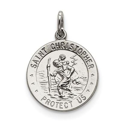 Picture of Saint Christopher Medal Sterling Silver Round Pendant