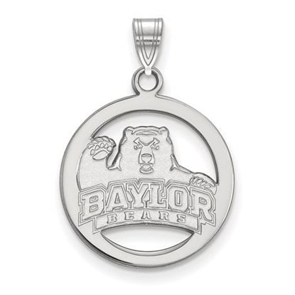 Picture of Baylor University Bears Sterling Silver Medium Pendant