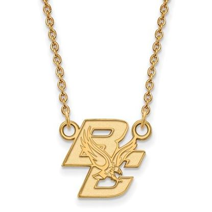 Picture of Boston College Eagles Sterling Silver Gold Plated Small Necklace