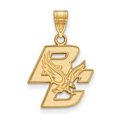 Picture of Boston College Eagles Sterling Silver Gold Plated Medium Pendant