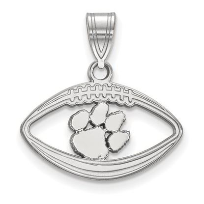 Picture of Clemson University Tigers Sterling Silver Football Pendant