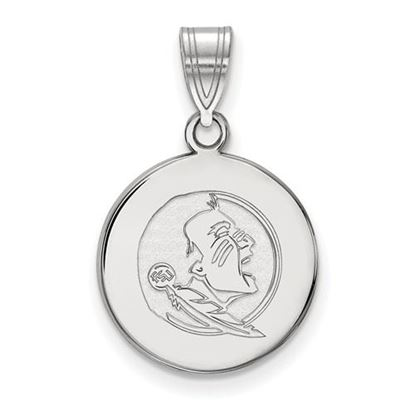 Picture of Florida State University Seminoles Sterling Silver Medium Disc Pendant