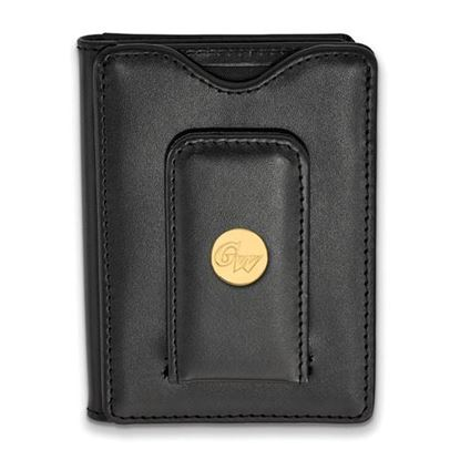 Picture of The George Washington University Colonials Sterling Silver Gold Plated Leather Wallet