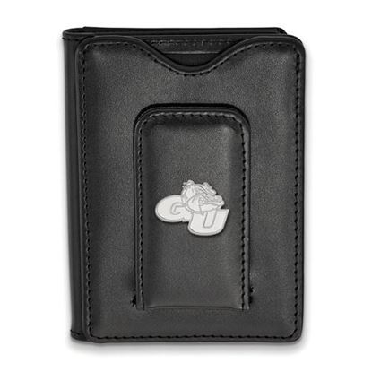 Picture of Gonzaga University Bulldogs Sterling Silver Leather Money Clip Wallet