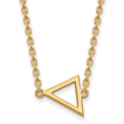 Picture of Miami University Redhawks Sterling Silver Gold Plated Small Triangle Necklace
