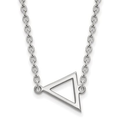 Picture of Miami University Redhawks Sterling Silver Small Triangle Necklace