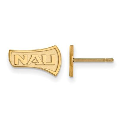 Picture of Northern Arizona University Lumberjacks Sterling Silver Gold Plated Extra Small Post Earrings