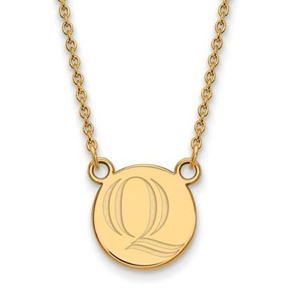 Picture of Quinnipiac University Bobcats Sterling Silver Gold Plated Small Necklace