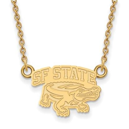 Picture of San Francisco State University Gators Sterling Silver Gold Plated Small Necklace