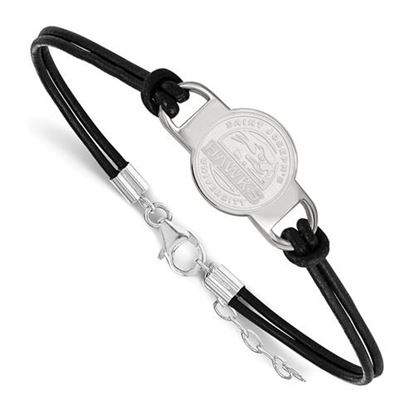 Picture of St. Joseph's University Hawks Sterling Silver Leather Bracelet