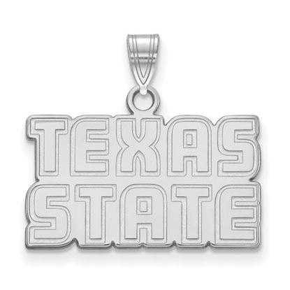 Picture of Texas State University Sterling Silver Small Pendant
