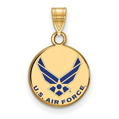 Picture of U.S. Air Force Academy Falcons Sterling Silver Gold Plated Small Enamel Disc Pendant
