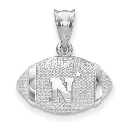 Picture of U.S. Naval Academy Midshipmen Sterling Silver Football Pendant