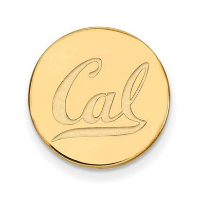 Picture of University of California Berkeley Gold Plated Logo Black Leather Wallet