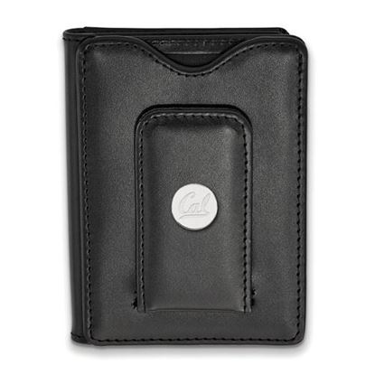 Picture of University of California Berkeley Golden Bears Sterling Silver Leather Money Clip Wallet