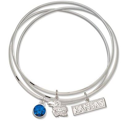 Picture of University of Kansas Triple Bracelet Set With Charms