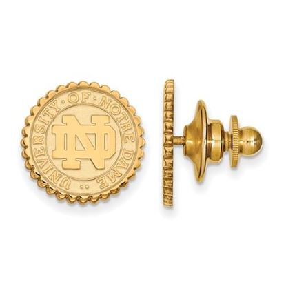 Picture of University of Notre Dame Fighting Irish Sterling Silver Gold Plated Crest Tie Tac