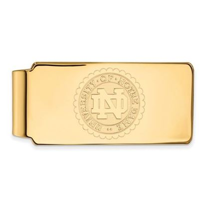Picture of University of Notre Dame Fighting Irish Sterling Silver Gold Plated Crest Money Clip