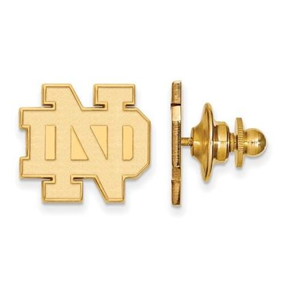 Picture of University of Notre Dame Fighting Irish Sterling Silver Gold Plated Tie Tac