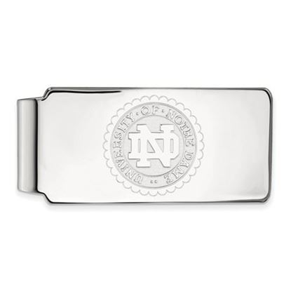 Picture of University of Notre Dame Fighting Irish Sterling Silver Crest Money Clip