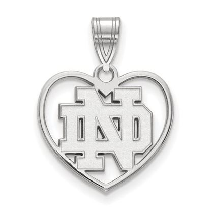 Picture of University of Notre Dame Fighting Irish Sterling Silver Heart Pendant