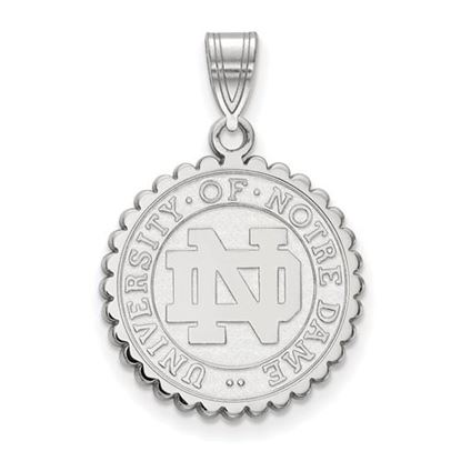 Picture of University of Notre Dame Fighting Irish Sterling Silver Large Crest Pendant
