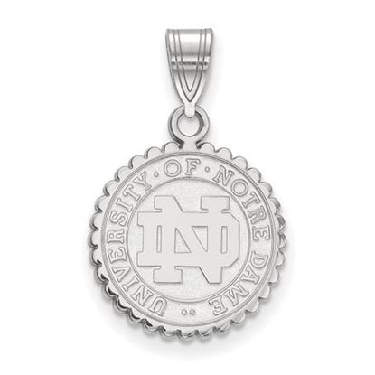 Picture of University of Notre Dame Fighting Irish Sterling Silver Medium Crest Pendant